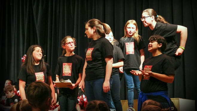 """Actors in the upcoming """"High School Musical"""" performed a brief sneak peek at the recent Festival of the Arts.  Catch the whole show May 4-7."""