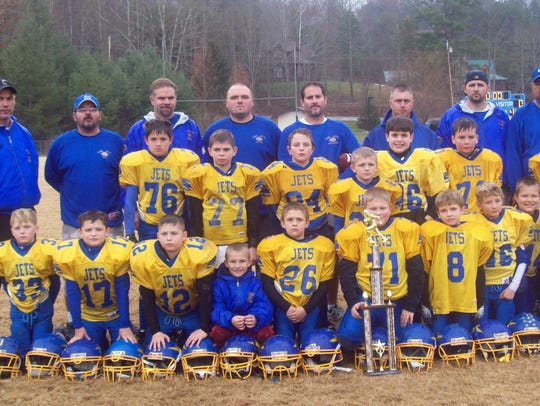"Layne ""The Train"" Todd was No. 71 in this youth football"