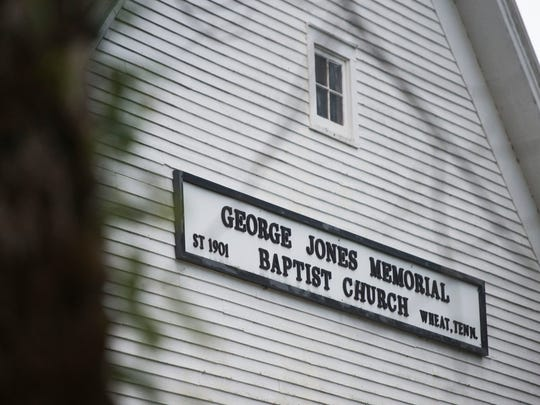 George Jones Memorial Church stands at dusk in Oak Ridge on Wednesday, Oct. 25, 2017. People claim this site is haunted, and it is one of the many local legends the city has.