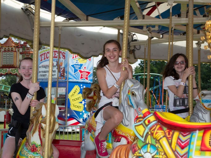 Alexandra, Chloe, Olivia. Leonia Annual Sports Booster