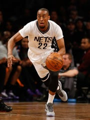 Markel Brown pushes the pace on a fastbreak during a game against the Phoenix Suns on March 6. Brown averaged 4.6 points while playing in 47 games as a rookie for the Brooklyn Nets.