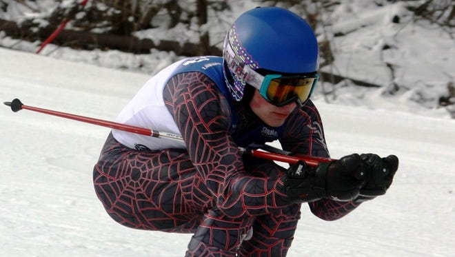 Lakeland's Drew Massey was fourth in the giant slalom at the SEMSL Alpine Valley Division meet.