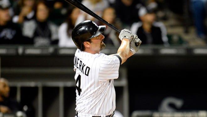 Over 18 seasons, Paul Konerko has hit 439 home runs.