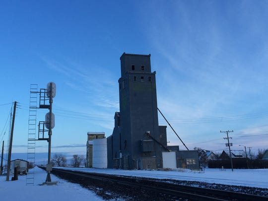 Saco's 110-foot grain elevator is gone.