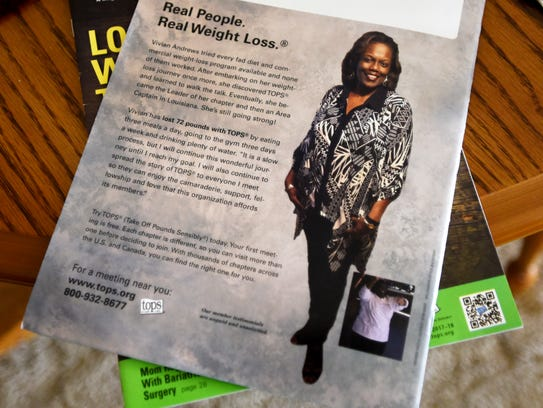 With the help of TOPS, Vivian Andrews has lost close to 100 pounds.