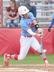 Cooper's Jacob Hummel grounds out to second base for