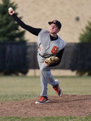 Gibsonburg's Fred Sisco is a pitcher on the News-Messenger's team.