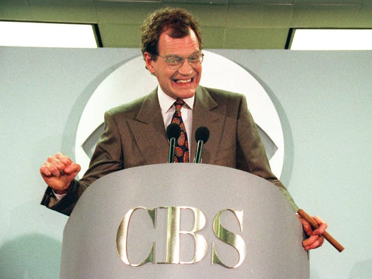 David Letterman announces his new contract with CBS