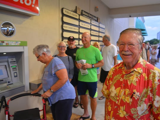 Ed Peresluha arived at 5:10 a.m. May 31, 2018, because he wanted to be the first person in the new store. Publix in Cocoa Beach opened at 7 a.m. sharp with customers lined up in front of the store waiting for the store to open. The store closed shortly after Hurricane Irma, was torn down, and was rebuilt bigger and better.