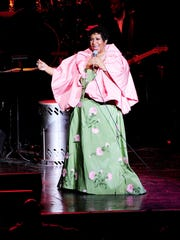Aretha Franklin performs at the DTE Energy Theater in Clarkston. in 2011.