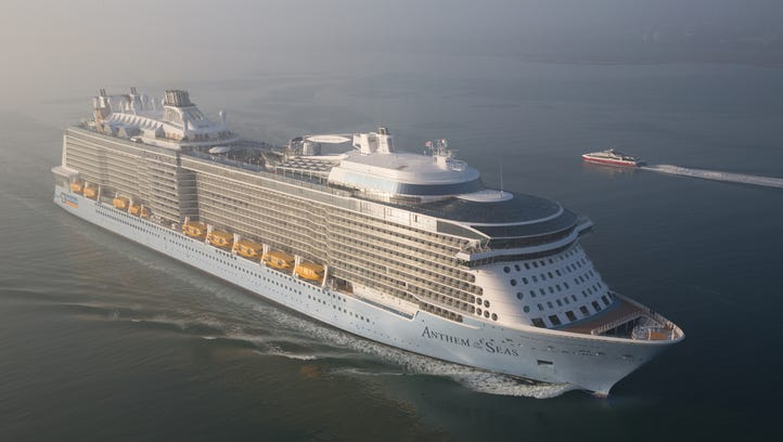 Royal Caribbean's 4,180-passenger Anthem of the Seas.