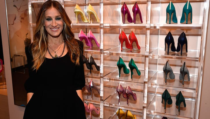 Sarah Jessica Parker in her new store outside of Washington,