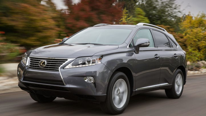 The 2014 Lexus RX was one of the vehicles that topped