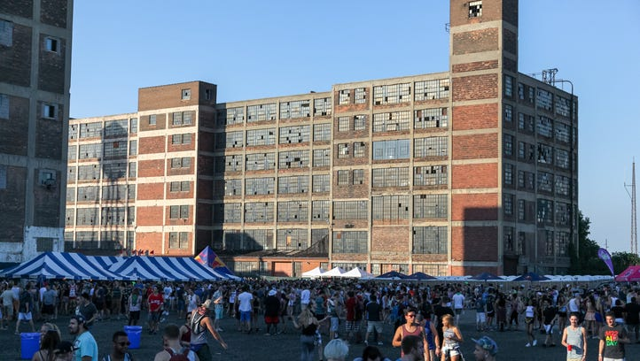 Detroit's Russell Industrial Center was the backdrop for a day-long music festival during the Mad Decent Block Party on Saturday, August 15, 2015.