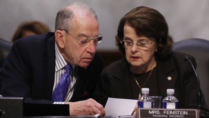 Bills to protect U.S. elections from foreign meddling are struggling, senators say