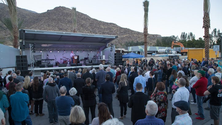 The downtown project is halfway done, but Palm Springs has already celebrated its arrival