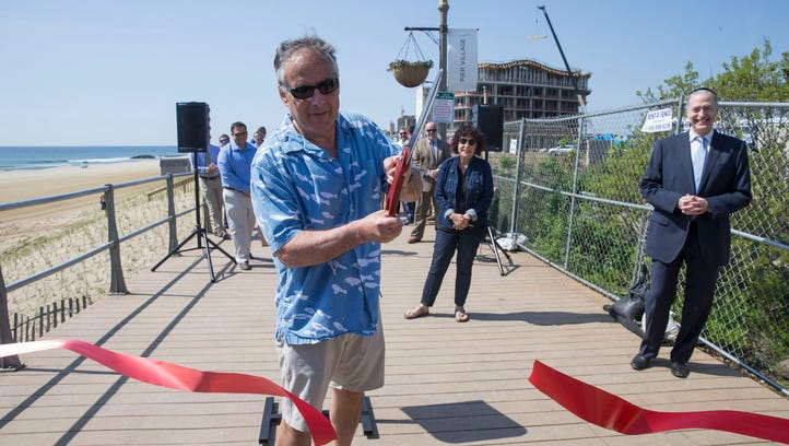 Officials open a section of the Long Branch Boardwalk