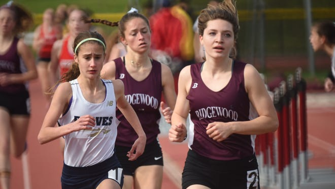 Olympia Martin and Ridgewood are No. 1 in this week's girls track and field Top 25 rankings.