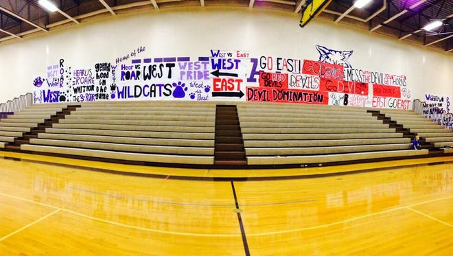 The walls of the Green Bay West gym were plastered full of banners during one of the first Silent Night basketball doubleheaders a few years ago.
