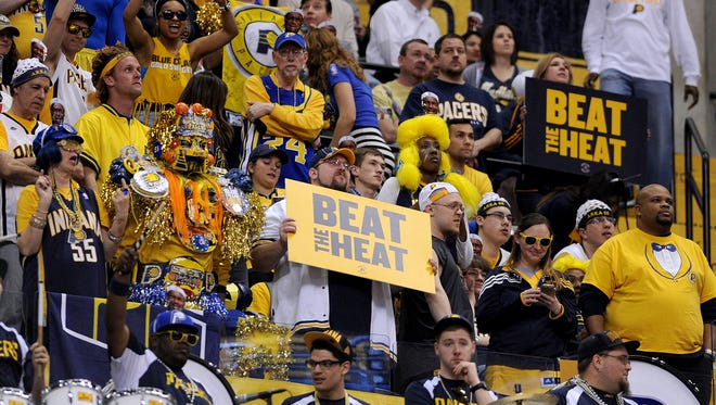 Area 55 fans got their wish as the Indiana Pacers beat the Miami Heat inside Bankers Life Fieldhouse, March 26, 2014, in Indianapolis.