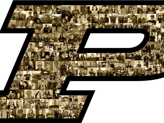 Purdue social media helmet decal when the Boilermakers host Iowa