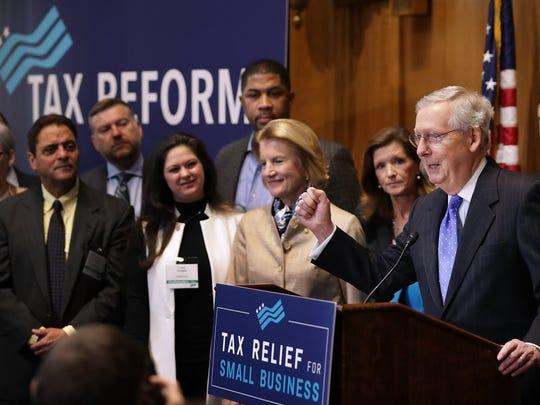 Talking tax bill in the Senate on Nov. 30, 2017.