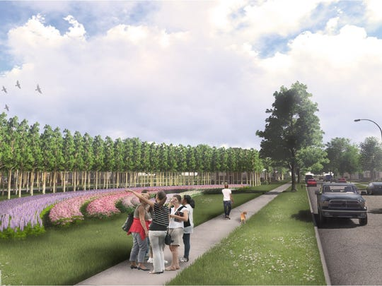 A rendering of the Fresh Coast Capital project at the site of the former Academy in Battle Creek. It is one of the many uses of former Battle Creek Public Schools building sites.