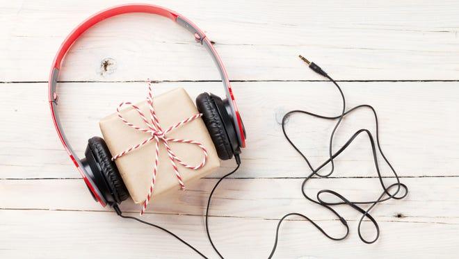Gift box with headphones