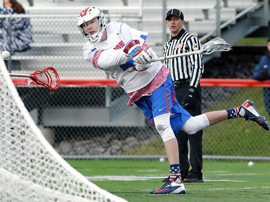 Fairport's T.J. Hendricks scored his 100th career goal last year, the 11th player in school history to reach the century mark.
