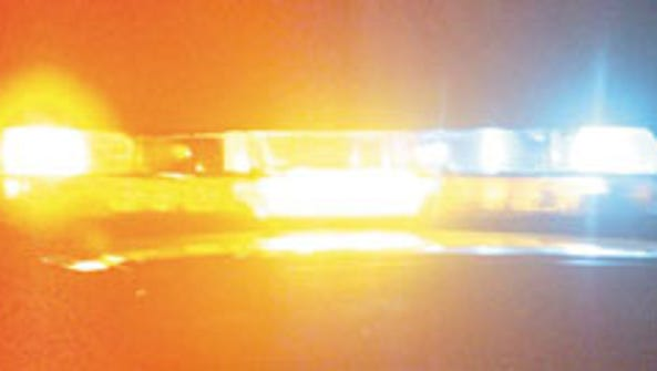 Police lights.