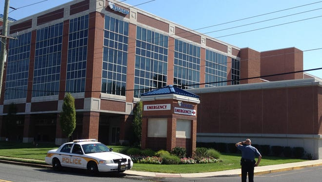 Authorities say a husband shot his wife, then himself, inside Kennedy University Hospital - Stratford Campus on East Laurel Road in Stratford.