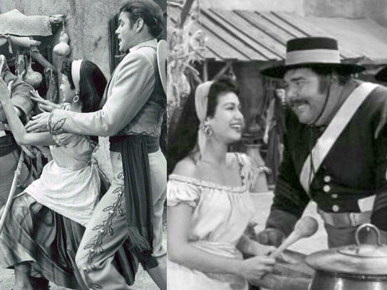 left to right, screen shot of luna with Henry Calvin