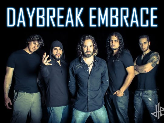Local James Wamsley, center, is the lead singer of Florida-based alternative rock band Daybreak Embrace. Other members of the band include Ryan Dorries (bass), Giann Rubio (drums), Keneth Figueroa (guitar), and Dan Cartagena (guitar).