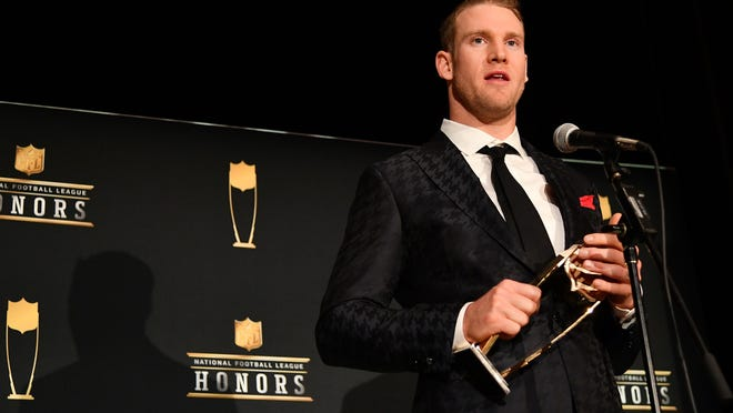 Former Dophins QB Ryan Tannehill received the AP Comeback Player of the Year award in Miami in February.