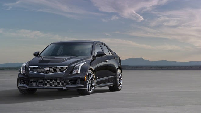 The Cadillac ATS-V sedan arrives track-capable from the factory next spring, powered by the first-ever twin-turbocharged engine in a V-Series. Rated at an estimated 455 horsepower (339 kW) and 445 lb-ft of torque (603 Nm), the 3.6L V-6 is the segment's highest-output six-cylinder and enables 0-60 performance of less than 4 seconds and a top speed of more than 185 mph.