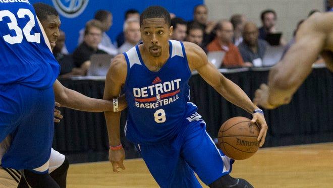 Detroit Pistons' Spencer Dinwiddie in summer league play July 6, 2015.