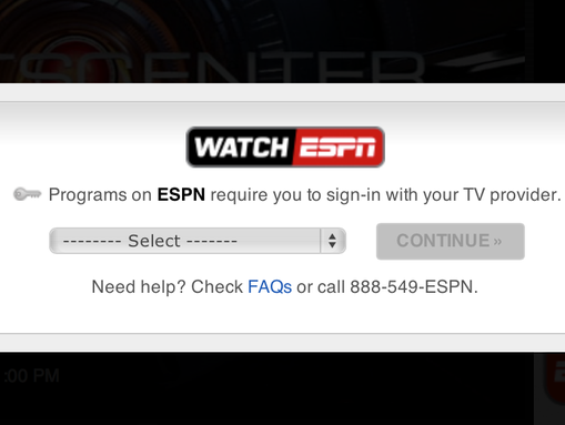 ESPN Screen Shot