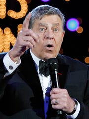 Entertainer Jerry Lewis speaks during the 44th annual