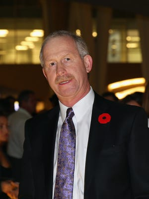 Jim Nill walks the red carpet prior to the 2015 Hockey Hall of Fame induction ceremony on Nov. 9, 2015, in Toronto.