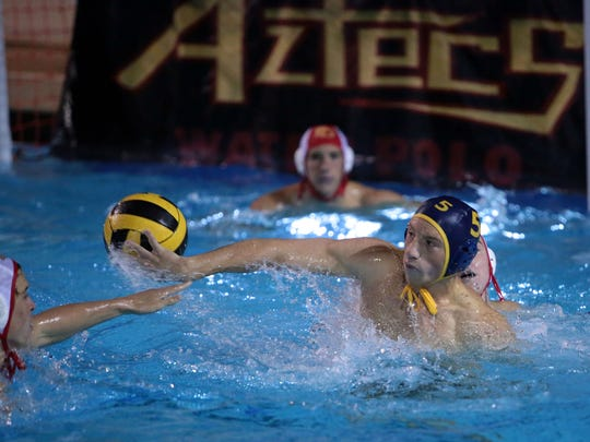 La Quinta's Miles Tarsitano scores with a backhand in the third quarter against Palm Desert during the DVL finals on Wednesday at Palm Desert High School.