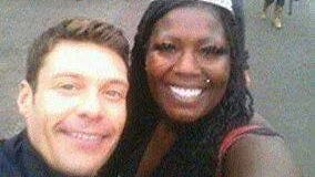 Sade Shine of Springfield took a selfie with American Idol host Ryan Seacrest.