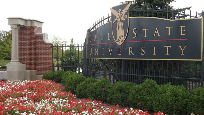 Ball State University entrance