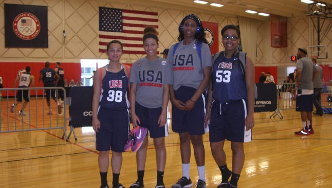 From left: The DMI Got Game team consisted of Lai Pham, Lationna Robinson, Kennedy Kracht and Dejanee McAtee.