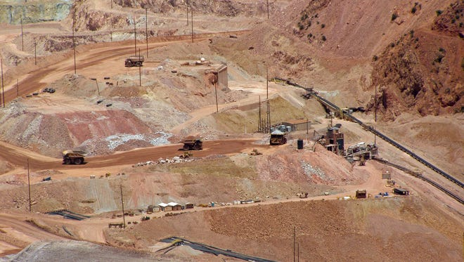 Inside one of the world's largest open-pit copper mines and leaching operations at Morenci in 2007.