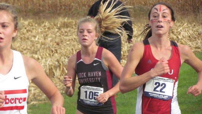 Cadie Kiser capped off a strong freshman year at Lock Haven