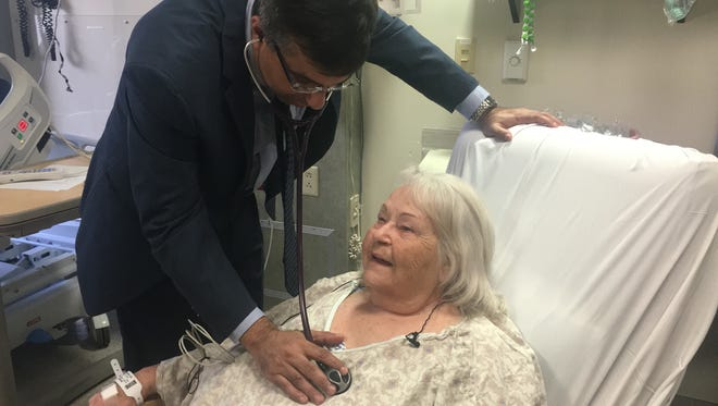 Dr. Pershad examines first trial patient to receive TAVR treatment in Arizona