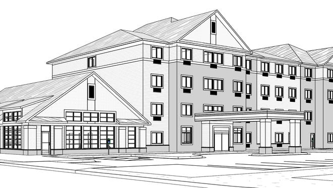 An artist's rendition by Keller Inc. of the proposed GrandStay Hotel in Algoma.