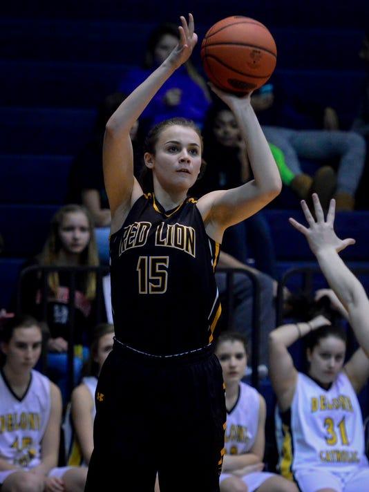 PHOTOS: Red Lion vs. Delone Catholic York-Adams girl's basketball semi-finals