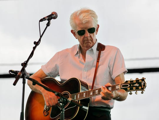 Nick Lowe performs with Los Straitjackets July 1 at