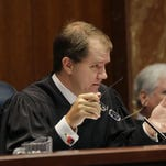 In a September 2015 photo, Texas Supreme Court Justice Don Willett speaks in Austin, Texas. Presumptive Republican presidential nominee Donald Trump has released a list of 11 potential Supreme Court justices he plans to vet to fill the seat of late Justice Antonin Scalia.